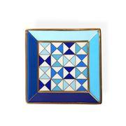 Jonathan Adler - Sorrento Square Tray Blue & Gold