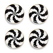 Jonathan Adler - Atlas Coasters Black & White Set 4pce