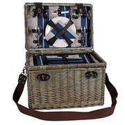 Satara - Lorne Wicker Picnic Basket Set For 4