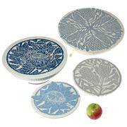 Spaza - Dish And Bowl Cover Set Protea 4pce