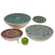 Spaza - Dish And Bowl Cover Set Safari 4pce