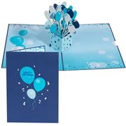 Colorpop - Happy Birthday Blue Balloons Card