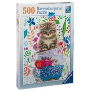 Ravensburger - Kitten In A Cup Puzzle 500pce