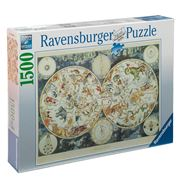 Ravensburger - World Map Of Fantastic Beasts Puzzle 1500pce