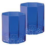 Rosenthal - Versace Medusa Lumiere Whisky Glass Blue Set 2pc