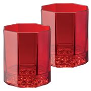 Rosenthal - Versace Medusa Lumiere Whisky Glass Set Red 2pc