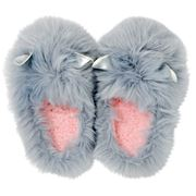 A.Trends - Glam Critter Slippers Grey & Silver Small/Medium