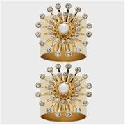 Joanna Buchanan - Gold Pearl Star Napkin Ring Set 2pce