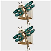 Joanna Buchanan - Emerald Dragonfly Napkin Ring Set 2pce