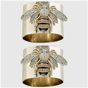 Joanna Buchanan - Stripey Bee Napkin Ring Set 2pce