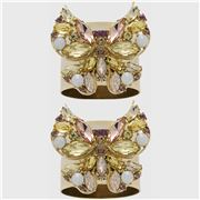 Joanna Buchanan - Jeweled Butterfly Napkin Ring Yellow 2pce