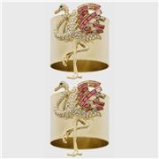 Joanna Buchanan - Flamingo Napkin Ring Set 2pce