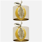 Joanna Buchanan -  Lemon Napkin Ring Set 2pce