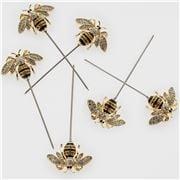 Joanna Buchanan - Stripey Bee Cocktail Picks Set 6pce