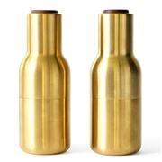 Menu - Bottle Grinder Salt & Pepper Brushed Brass Set 2pce