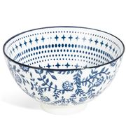 Gusta - Out Of The Blue Bowl Flowers/Stars 13.5cm