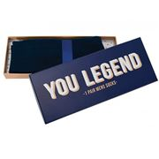 A.Trends - Men's Socks Navy in You Legend Box
