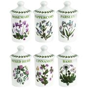 Portmeirion - Botanic Garden Herb & Spice Jars Set 6pce