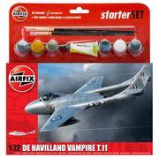 Airfix - De Havilland Vampire T.11 Model Starter Set