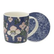 Ecology - May Gibbs Flower Babies Mug/Coaster Set Blue 320ml