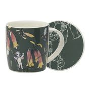 Ecology - May Gibbs Flower Babies Mug/Coaster Green 320ml