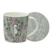 Ecology - May Gibbs Flower Babies Mug/Coaster Lt.Green 320ml