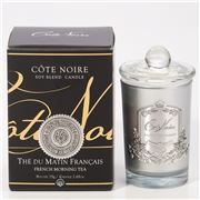 Cote Noire - French Morning Tea Candle w/Silver Crest 75g