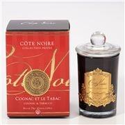 Cote Noire - Cognac & Tobacco Candle w/Gold Crest 75g