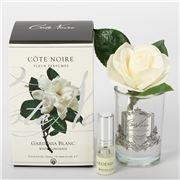 Cote Noire - Gardenia Blanc Perfume Clear Glass Silver Crest