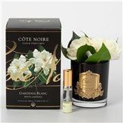 Cote Noire - Gardenia Blanc Perfume Black Glass Gold Crest