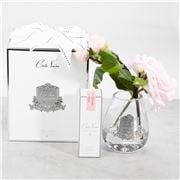Cote Noire - Tea Rose French Pink w/Teardrop Clear Vase