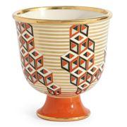 Jonathan Adler - Versailles Blocks Bowl Orange Red