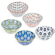 Mino Japan - Goshiki Ceramics Bowl 15cm Set 5pce