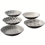 The Modern Japanism - Komon Shallow Bowls Lrge 19.5cm 5pc