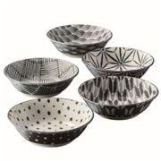 The Modern Japanism - Komon Shallow Bowl Medium Set 5pce