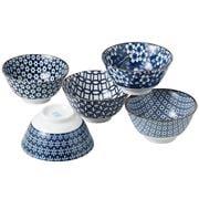 Japanese Ceramics - Nami Bowl 5pce 13cm