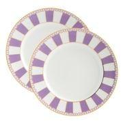 Noritake - Carnivale Cake Plate Set Lavender 2pce 16cm