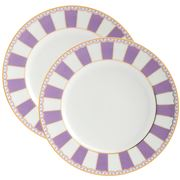 Noritake - Carnivale Cake Plate Set Lavender 2pce 21cm