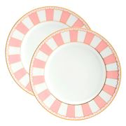 Noritake - Carnivale Cake Plate Set Pink 2pce 16cm