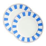 Noritake - Carnivale Cake Plate Dark Blue 2pce 16cm