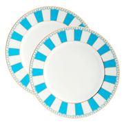 Noritake - Carnivale Small Cake Plate Light Blue Set 2pce