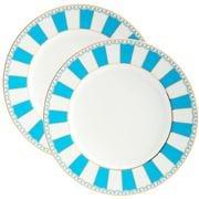 Noritake - Carnivale Cake Plate Set Light Blue 21cm 2pce