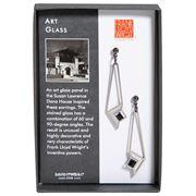 David Howell - Art Glass Earrings Chrome