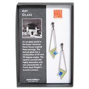 David Howell - Art Glass Green/Blue Earrings