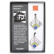 David Howell - Chevron Design Green Earrings