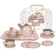 Kaper Kidz - Gold Star Tin Tea Set In Suitcase