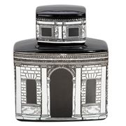 Luxe By Peter's - Firenze Cannister White/Black 20x24.5x10cm