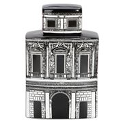 Luxe By Peter's - Firenze Cannister White/Black 20x31.5x10cm