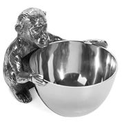 Luxe By Peter's - Monkey Nickel Peanuts Bowl  12x14cm