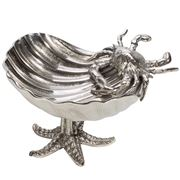Luxe By Peter's - Sealife Shell Dish Nickel 26x23x16cm